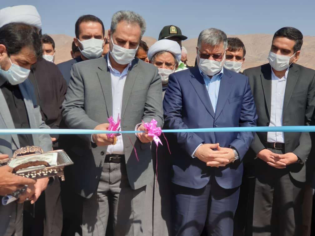 بهره برداری از پروژه آبخیزداری با حضور وزیر جهاد کشاورزی در شهرستان قاین